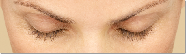 Woman's eyes with bigger eyelashes demonstrating Martina's results 8 weeks after Latisse application