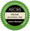 AECOS active member badge granted to dr. Mitchell Jackson