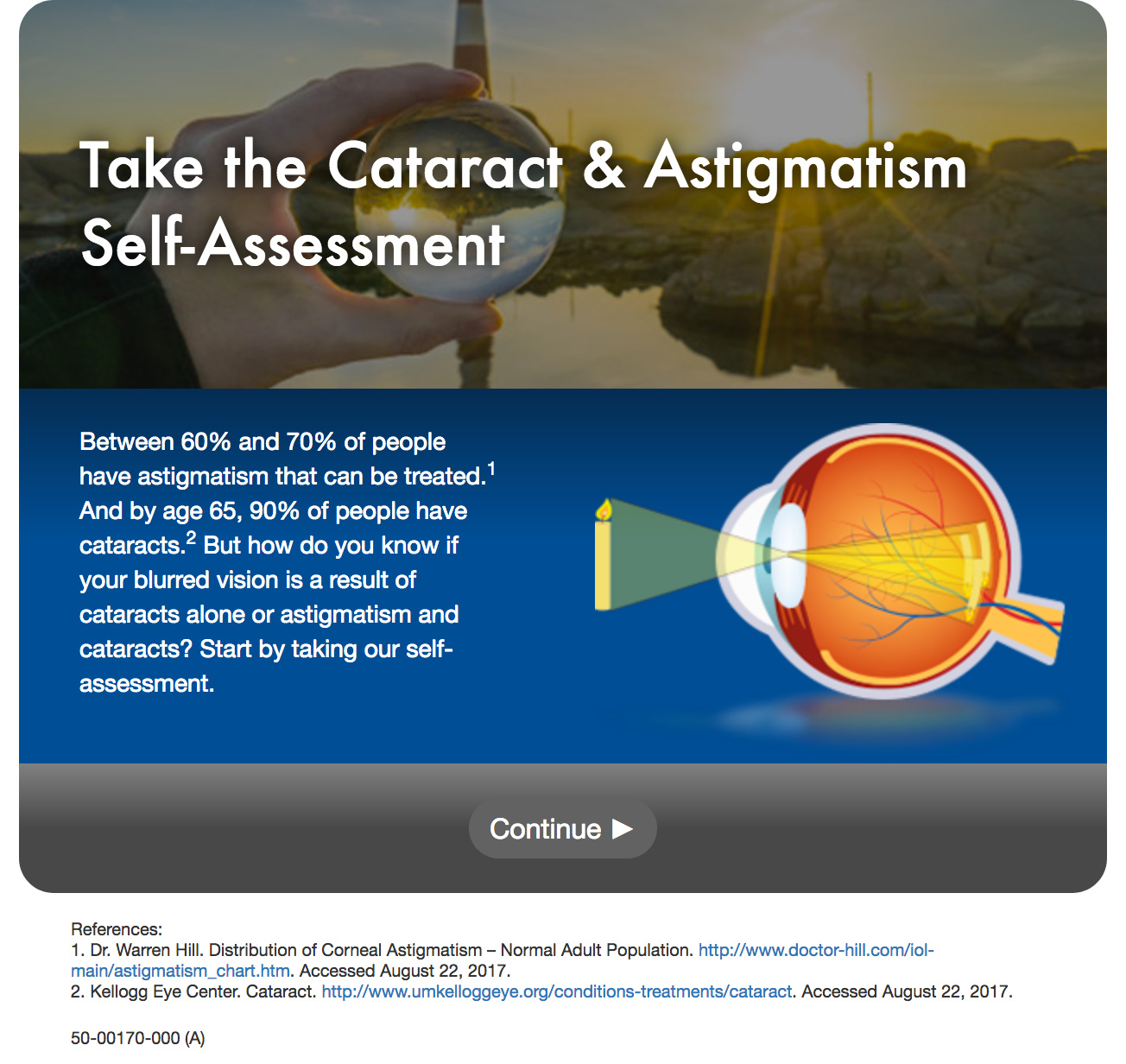 Take the Cataract & Astigmatism Self-Assessment