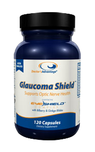 Bottle of Doctor's Advantage Glaucoma Shield Supports Optic Nerve Health