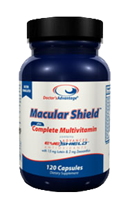A bottle of Doctor's Advantage Macular Shield Complete Multivitamin