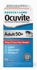 Package of Ocuvite Eye Vitamins and Mineral Supplement Adult 50+
