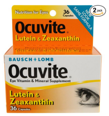Package of Ocuvite Lutein and Zeaxanthin Nutrition for Eyes