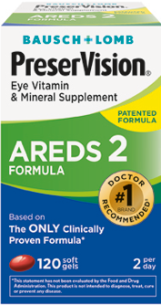 Package of PreserVision Eye Vitamin and Mineral Supplement AREDS2 Formula