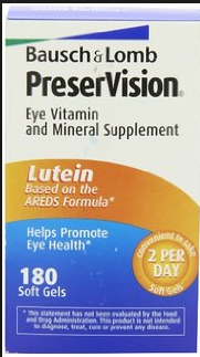 Pack of PreserVision Eye Vitamin and Mineral Supplement Lutein Based on the AREDS Formula