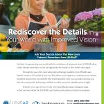 Jacksoneye LENSAR Cataract Surgery Ad with a woman making a bunch of flowers